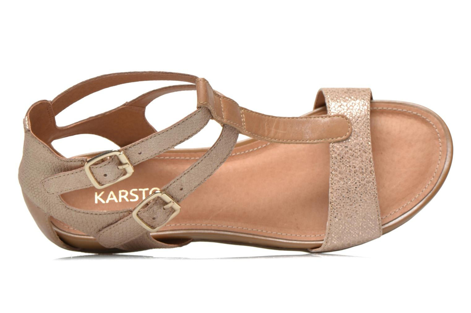 Sandals Karston Kozin Bronze and Gold view from the left