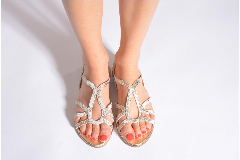 Sandales et nu-pieds Karston Sofor Or et bronze vue bas / vue portée sac