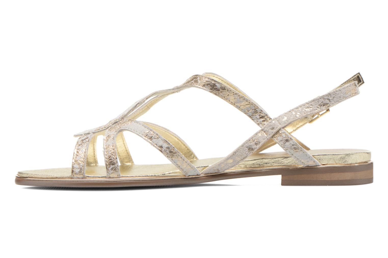 Sandales et nu-pieds Karston Sofor Or et bronze vue face