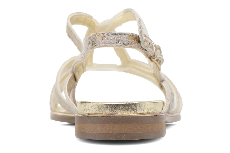 Sandales et nu-pieds Karston Sofor Or et bronze vue droite