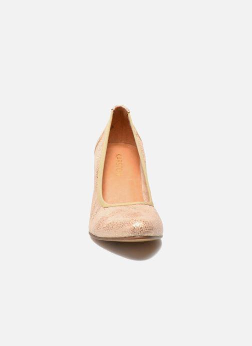 Escarpins Karston Aventor Or et bronze vue portées chaussures