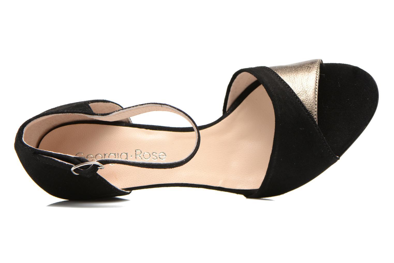 Sandales et nu-pieds Georgia Rose Lilika Noir vue gauche