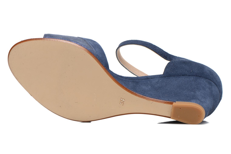 Sandales et nu-pieds Georgia Rose Lilika Bleu vue haut
