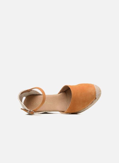 Sandales et nu-pieds Georgia Rose Iponiki Marron vue gauche