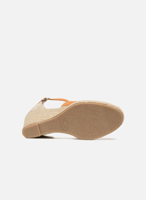 Sandales et nu-pieds Georgia Rose Iponiki Marron vue haut