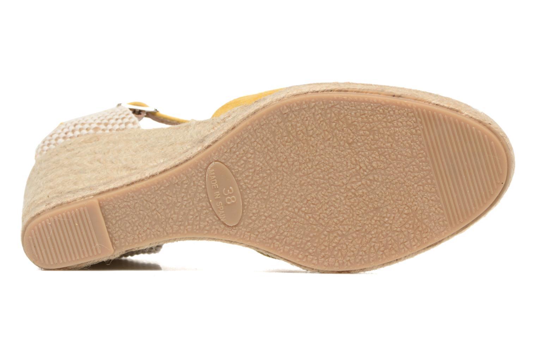 Sandales et nu-pieds Georgia Rose Iponiki Jaune vue haut
