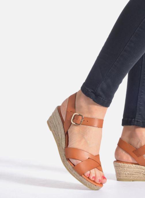 Sandales et nu-pieds Georgia Rose Inof Bleu vue bas / vue portée sac