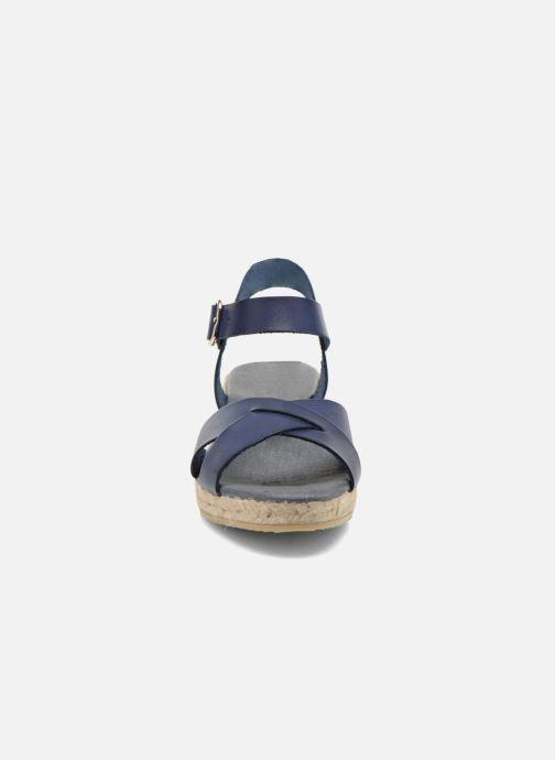 Sandales et nu-pieds Georgia Rose Inof Bleu vue portées chaussures