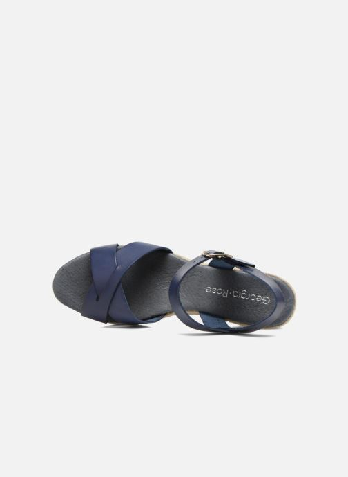 Sandales et nu-pieds Georgia Rose Inof Bleu vue gauche