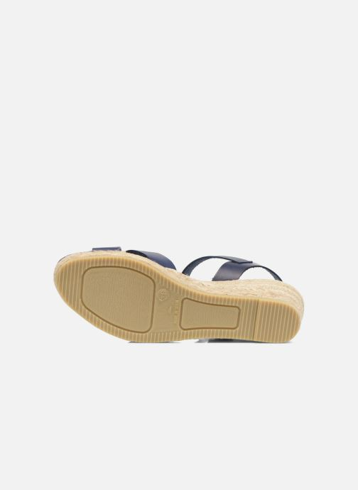 Sandales et nu-pieds Georgia Rose Inof Bleu vue haut