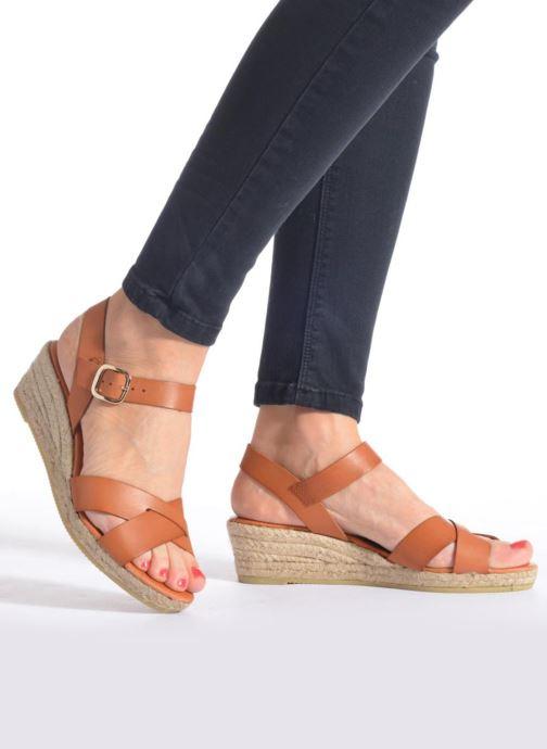 Sandales et nu-pieds Georgia Rose Inof Marron vue bas / vue portée sac