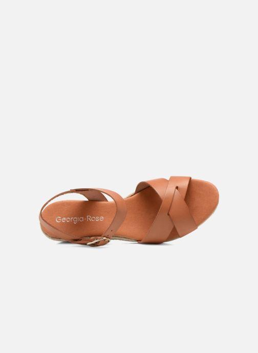 Sandales et nu-pieds Georgia Rose Inof Marron vue gauche