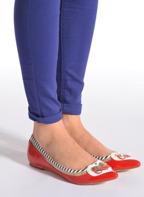 Ballet pumps Coca-cola shoes Heart Red view from underneath / model view
