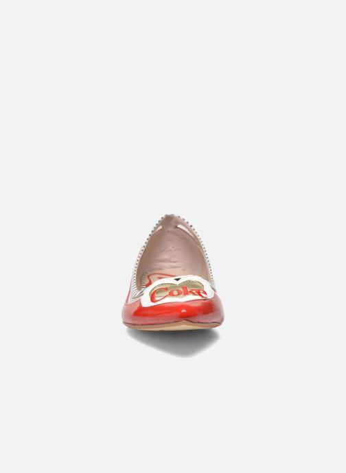Ballet pumps Coca-cola shoes Heart Red model view