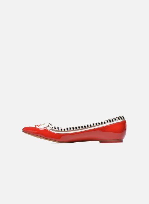 Ballet pumps Coca-cola shoes Heart Red front view