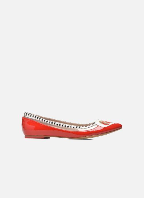 Ballet pumps Coca-cola shoes Heart Red back view
