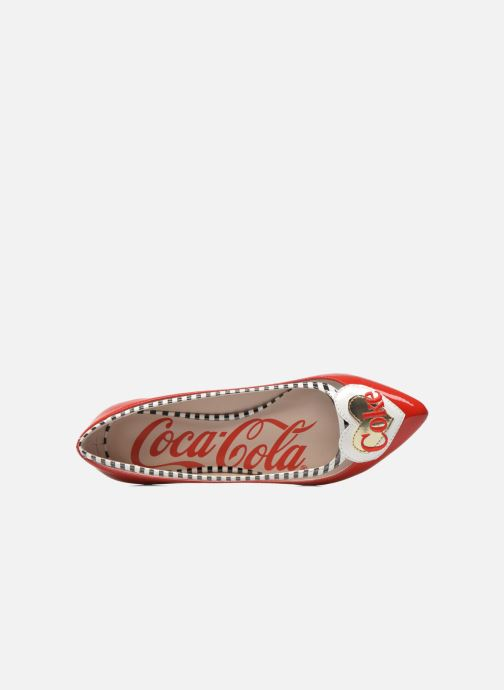 Ballet pumps Coca-cola shoes Heart Red view from the left