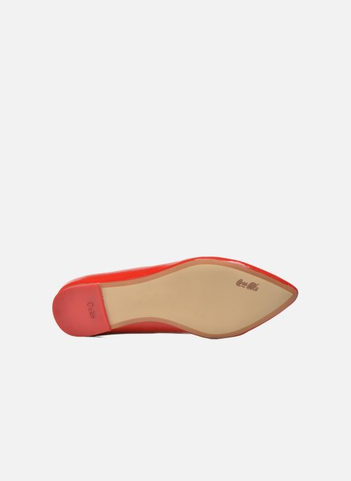 Ballet pumps Coca-cola shoes Heart Red view from above