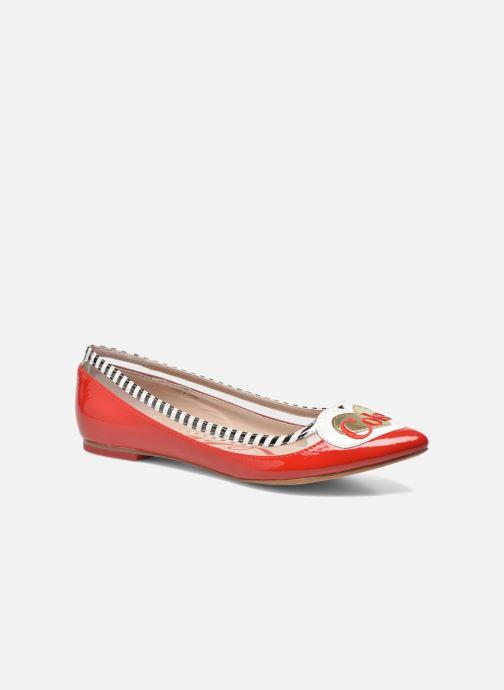Ballerines Coca-cola shoes Heart Rouge vue détail/paire