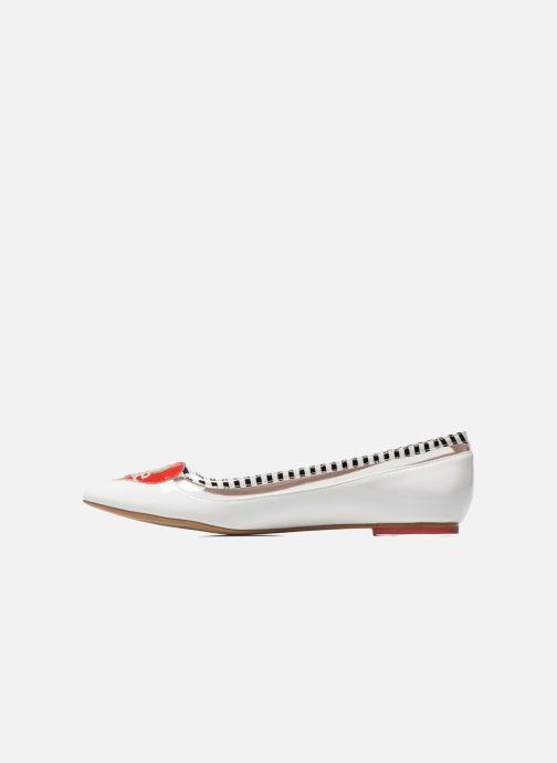 Ballet pumps Coca-cola shoes Heart White front view