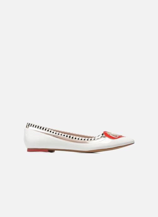 Ballet pumps Coca-cola shoes Heart White back view