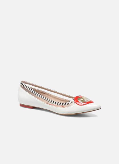 Ballerines Coca-cola shoes Heart Blanc vue détail/paire