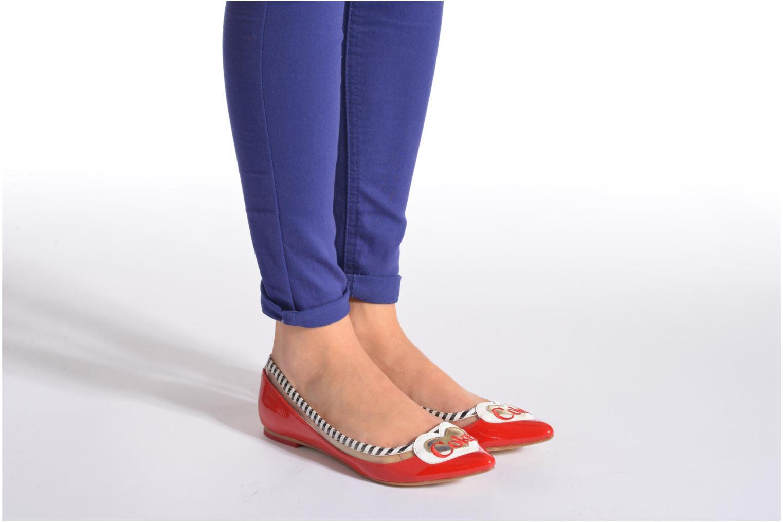 Ballerina Coca-cola shoes Heart Vit bild från under