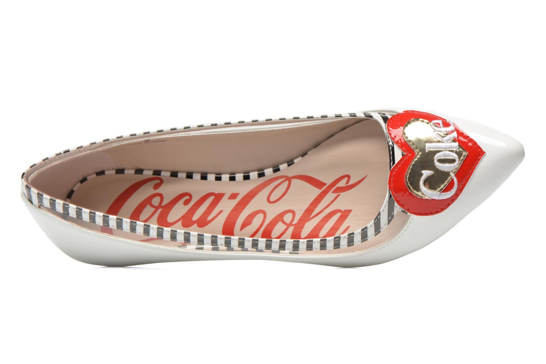 Ballerina Coca-cola shoes Heart Vit bild från vänster sidan