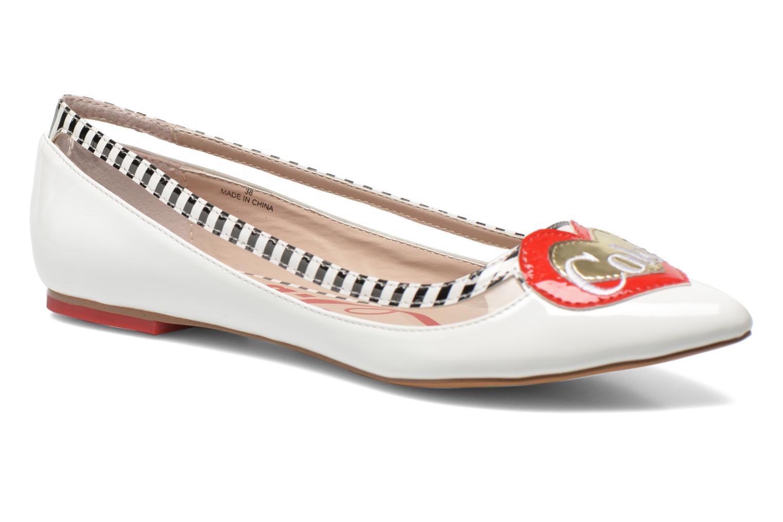 Ballerina Coca-cola shoes Heart Vit detaljerad bild på paret
