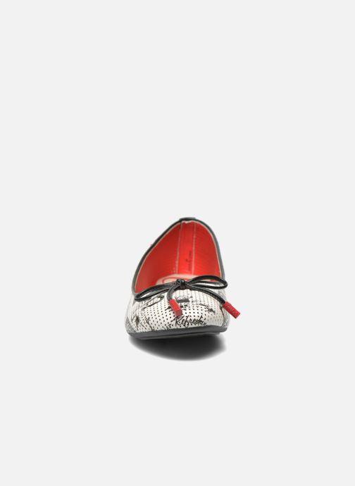 Ballet pumps Coca-cola shoes Paper Multicolor model view
