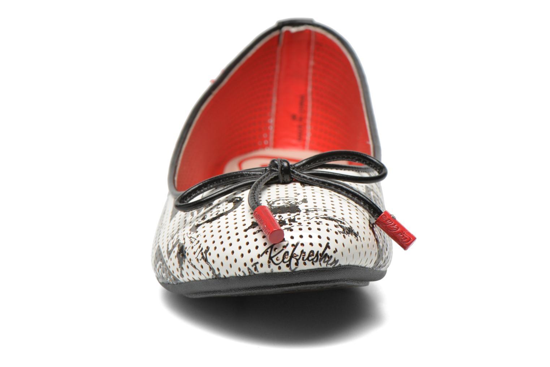 Ballerines Coca-cola shoes Paper Multicolore vue portées chaussures