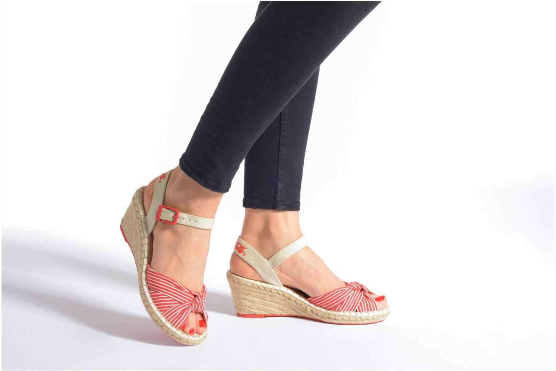 Sandales et nu-pieds Coca-cola shoes City Line Rouge vue bas / vue portée sac
