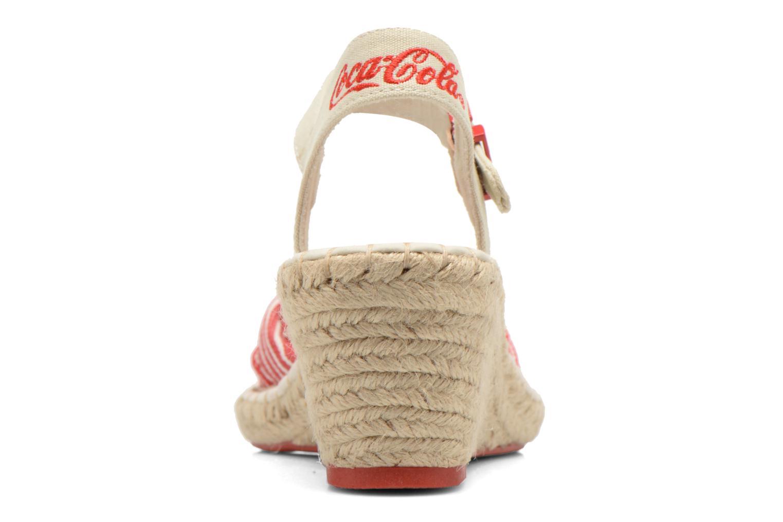 Sandales et nu-pieds Coca-cola shoes City Line Rouge vue droite