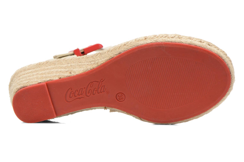 Sandales et nu-pieds Coca-cola shoes City Line Rouge vue haut