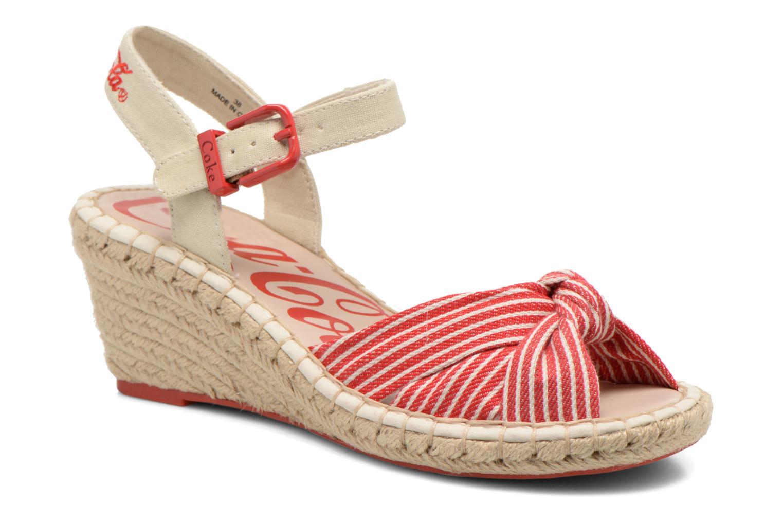 Sandales et nu-pieds Coca-cola shoes City Line Rouge vue détail/paire