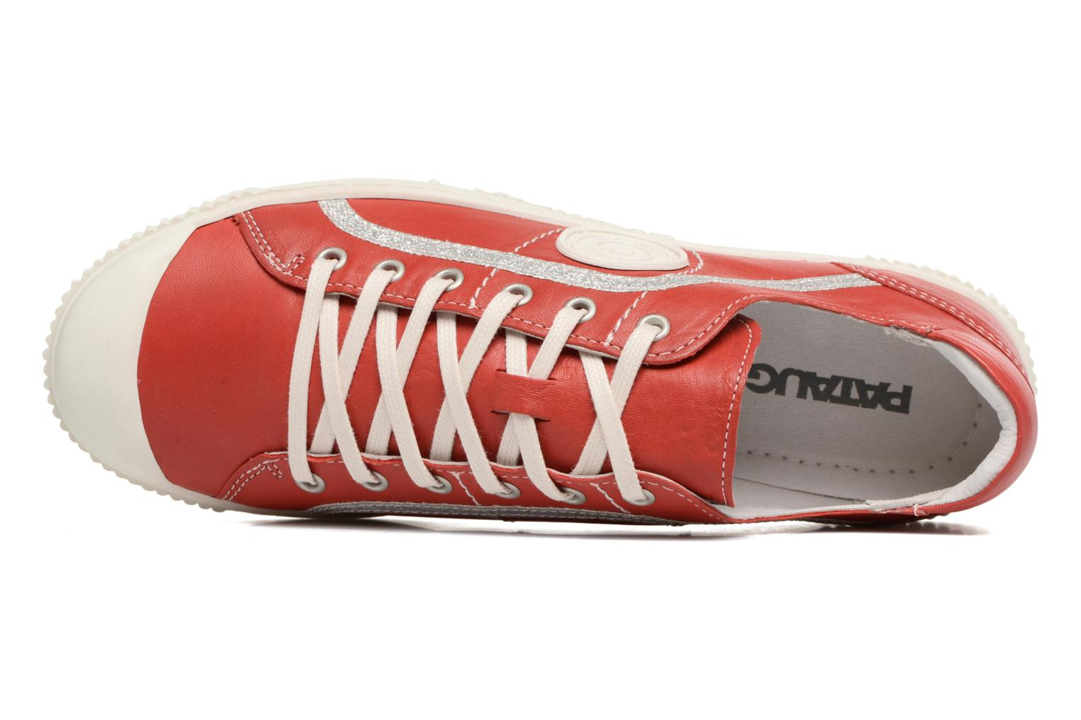 Trainers Pataugas Baheri Red view from the left
