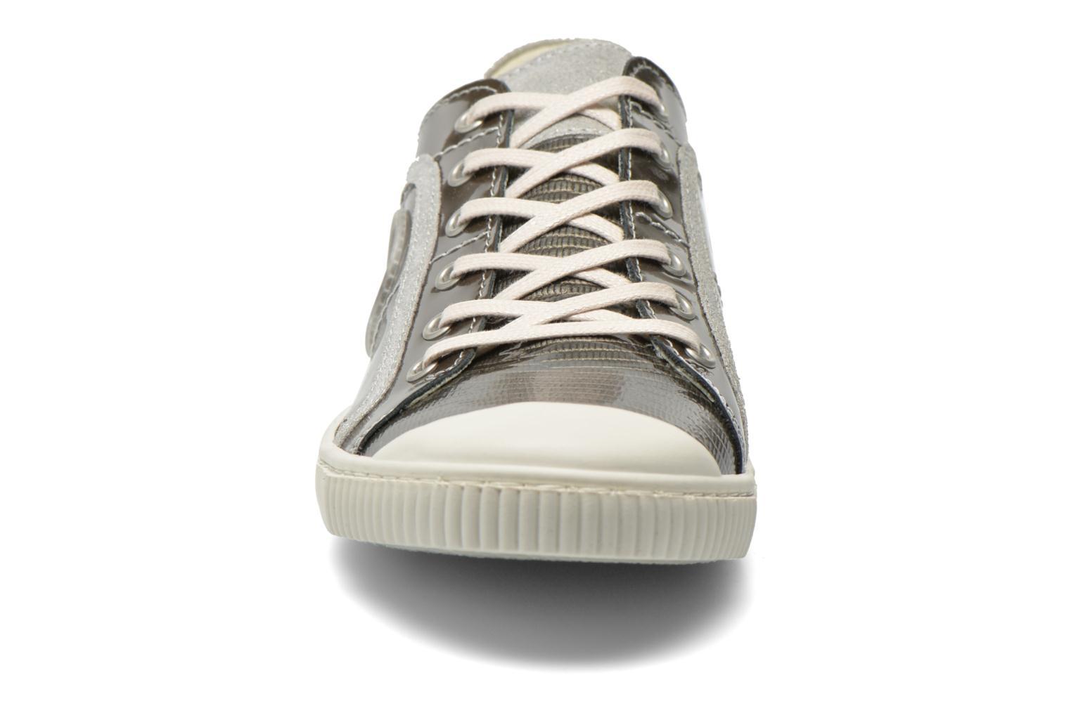 Baskets Pataugas Baheri/V Argent vue portées chaussures