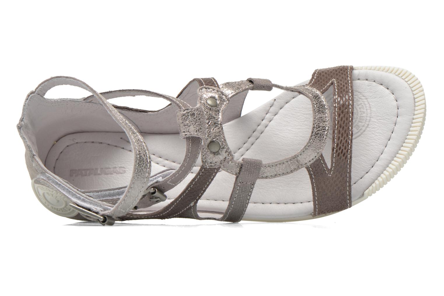 Sandals Pataugas Chance Grey view from the left