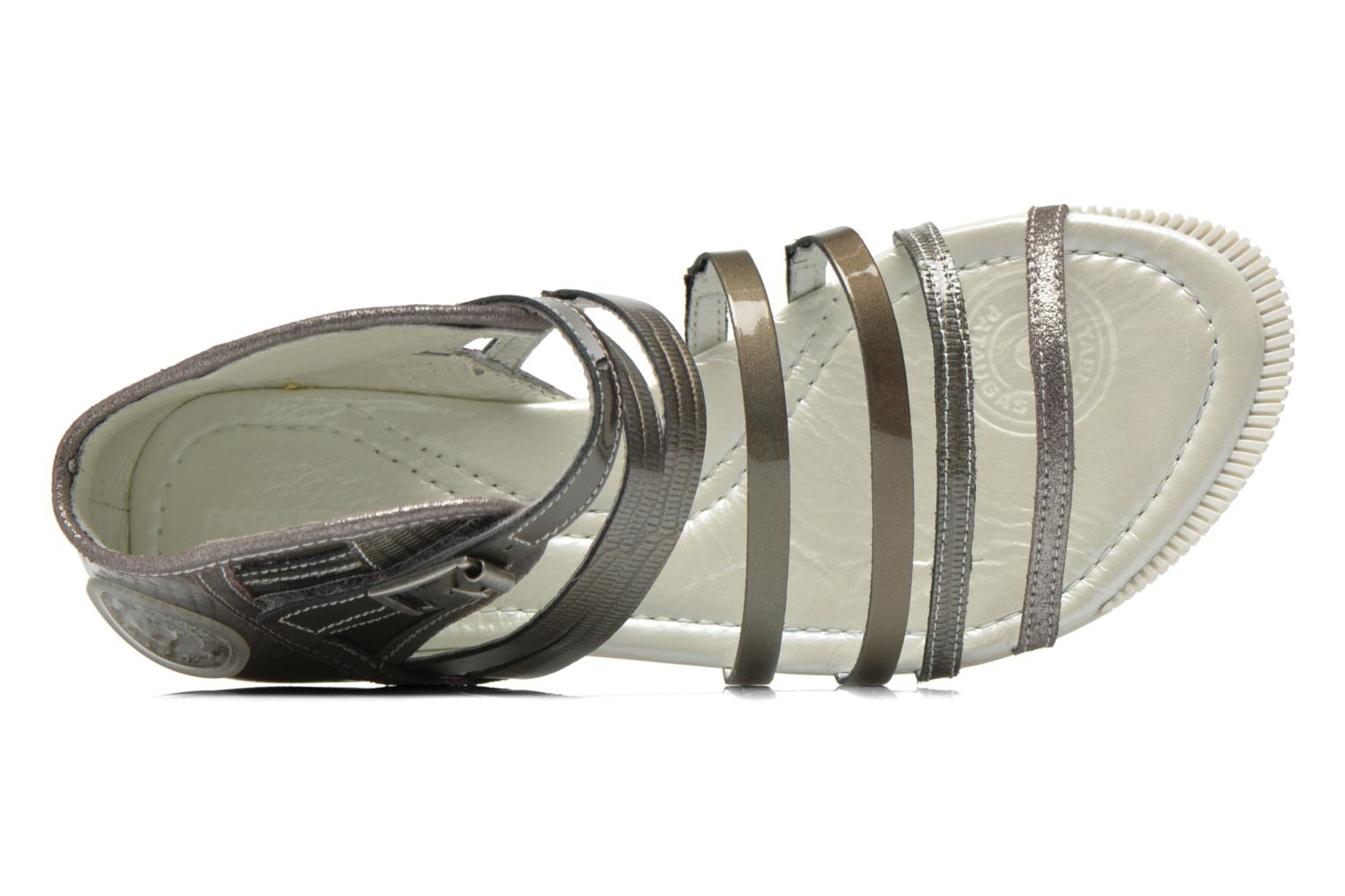 Sandals Pataugas Chic/V Silver view from the left