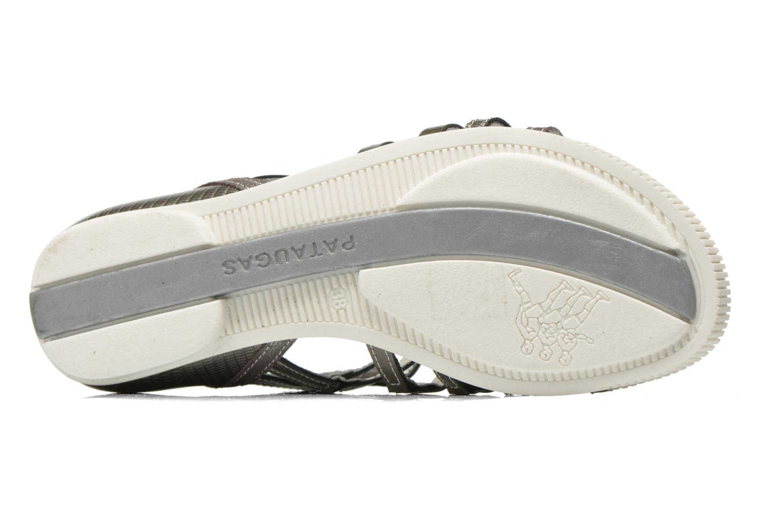 Sandals Pataugas Chic/V Silver view from above
