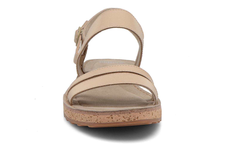 Sandales et nu-pieds Camper Pim Pom K200137 Beige vue portées chaussures