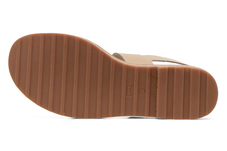 Sandales et nu-pieds Camper Pim Pom K200137 Beige vue haut