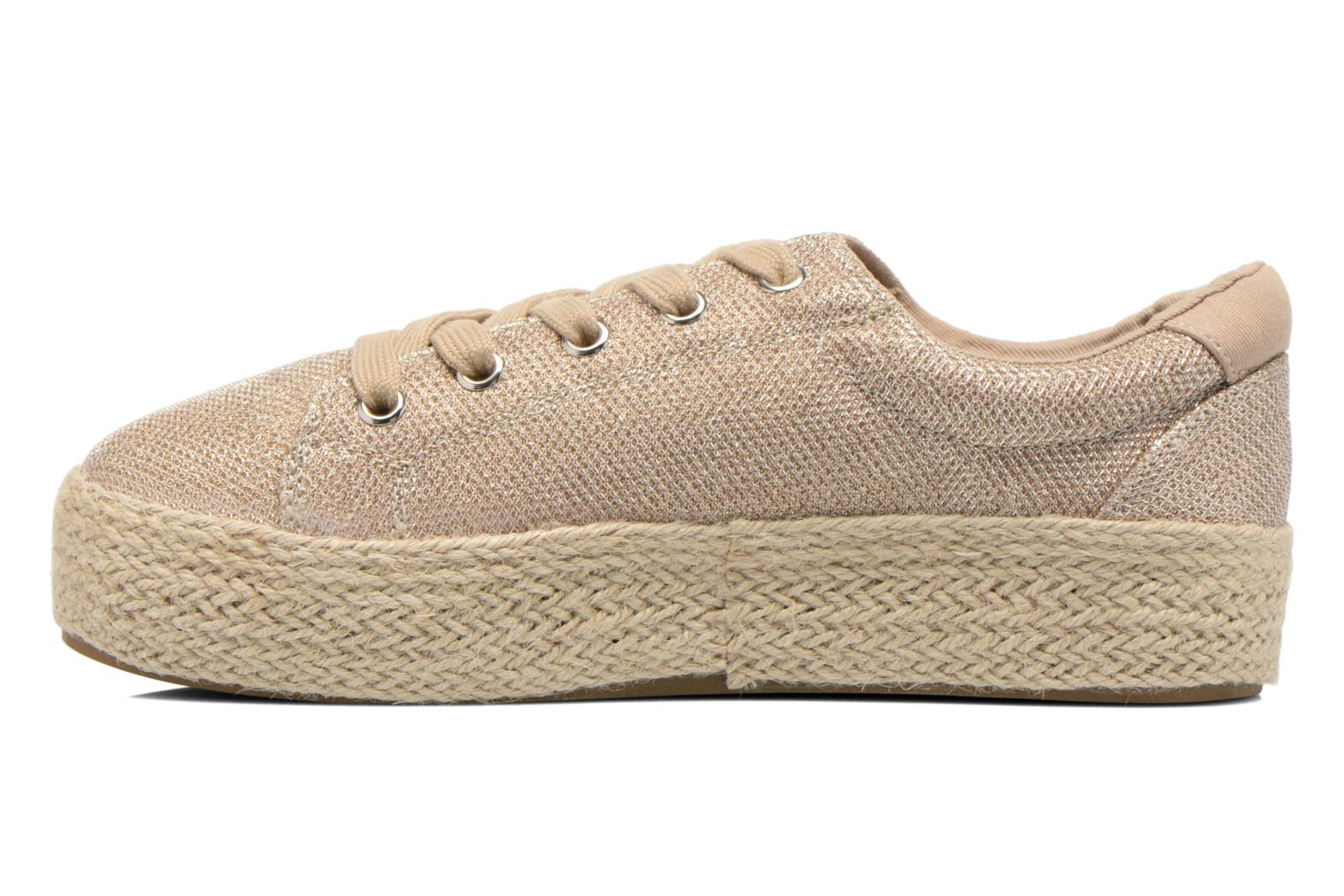 Trainers Steve Madden STATICC Bronze and Gold front view