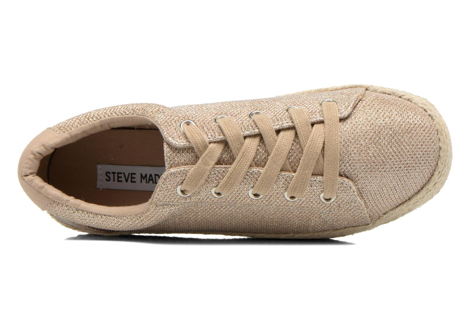 Trainers Steve Madden STATICC Bronze and Gold view from the left