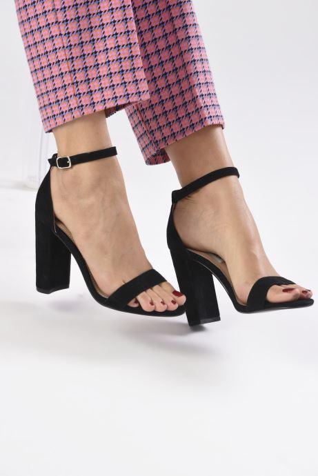 Sandales et nu-pieds Steve Madden CARRSON Noir vue bas / vue portée sac