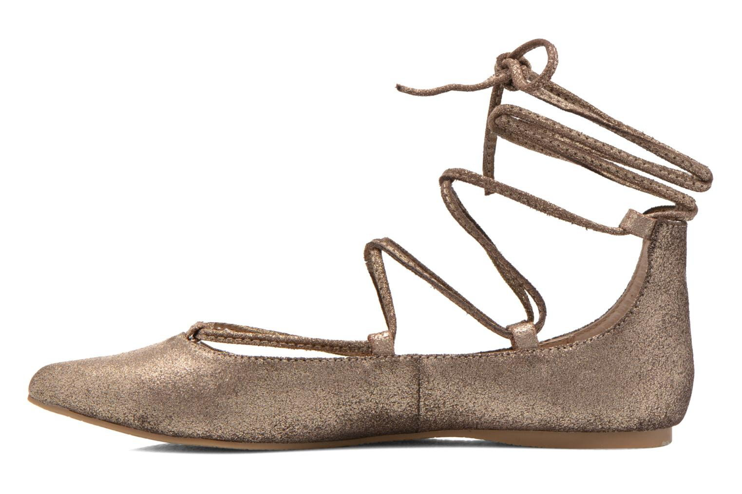 Ballet pumps Steve Madden ELEANORR Bronze and Gold front view