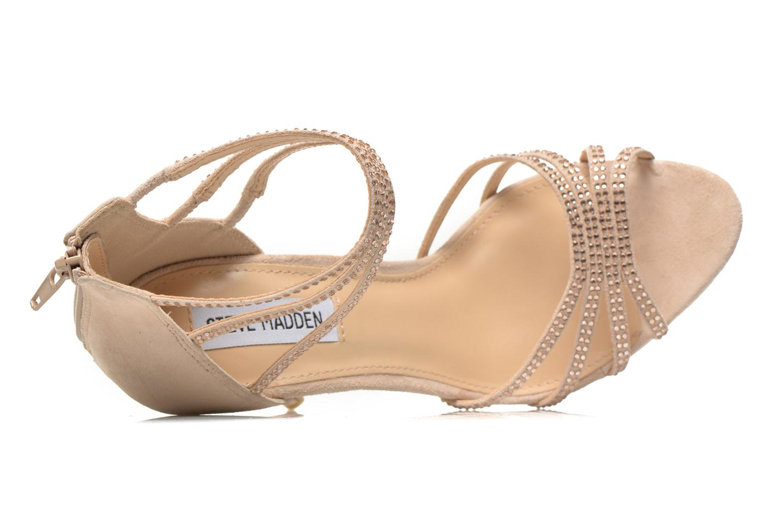 Sandals Steve Madden CAPPER Beige view from the left