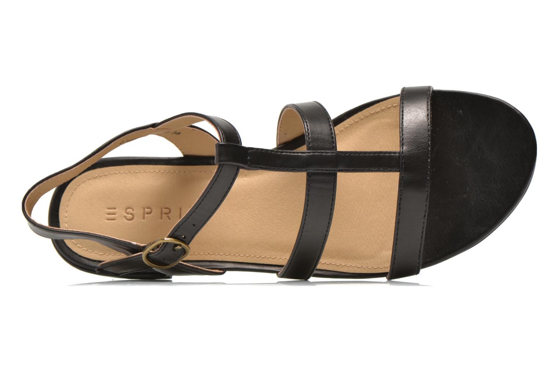 Sandales et nu-pieds Esprit Aely Sandal Noir vue gauche