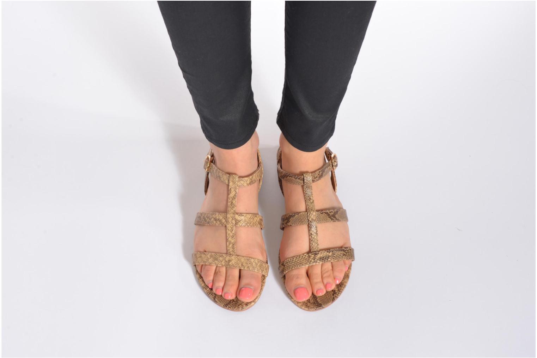 Sandales et nu-pieds Esprit Aely Sandal Marron vue bas / vue portée sac