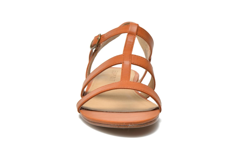 Sandales et nu-pieds Esprit Aely Sandal Marron vue portées chaussures